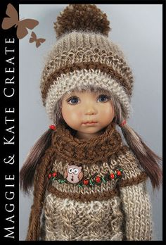 """FALL Outfit for Little Darlings Effner 13"""" by Maggie & Kate Create"""