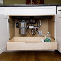 Every lower cabinet should have a pull-out!