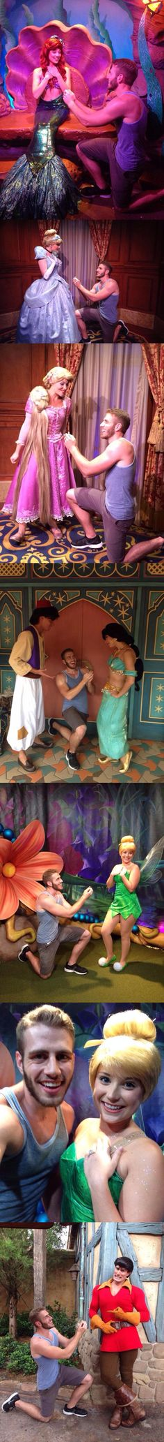 A Guy Proposed To Disney Princesses