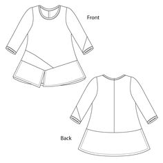 Ivy Top, Knit pattern, tuinc pattern