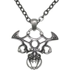 Carolina Glamour Collection Pewter Gothic Tribal Dragon 24-inch... ($18) ❤ liked on Polyvore featuring jewelry, necklaces, accessories, pewter, gothic jewelry, pendant jewelry, gothic jewellery, gothic pendant and goth necklace