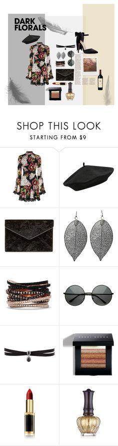 """Dark Florals"" by krnas on Polyvore featuring Nicholas, M&Co, Rebecca Minkoff, Effy Jewelry, Fallon, Impossible Project, Columbia, Bobbi Brown Cosmetics, L'Oréal Paris and Anna Sui"