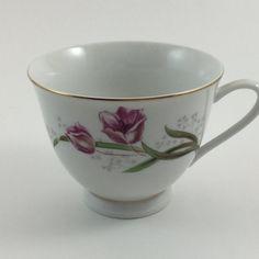 Taza de té Vintage Tulip rosa hecho en China