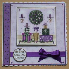 #Hunkydory #create and craft  The colour of this image and backing card is quit contemporary and has made a very pretty card,The topper and background card are from the Hunkydory 4 day deal on create and craft. I have also used ribbon and adhesive gems from my crafty stash