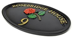 Islington Bespoke Oval House Name Sign - A hand painted bespoke made cast sign, individually made to your own personal requirements. Unsurpassable British quality.