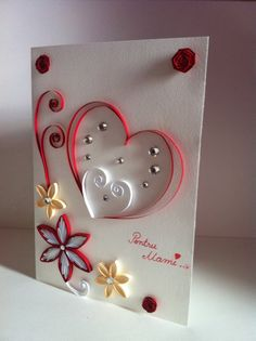Quilling card by Bianca Paraschiv