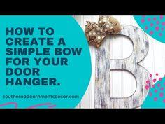 Simple Burlap & Scrap Ribbon Bow for Door Hangers Burlap Bows, Ribbon Bows, Bow Making, Paint Party, How To Make Bows, Door Hangers, The Creator, Scrap, Cricut