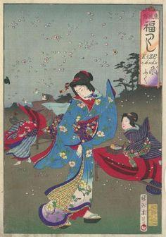 Toyohara Chikanobu Title:Spring Wind Date:1887