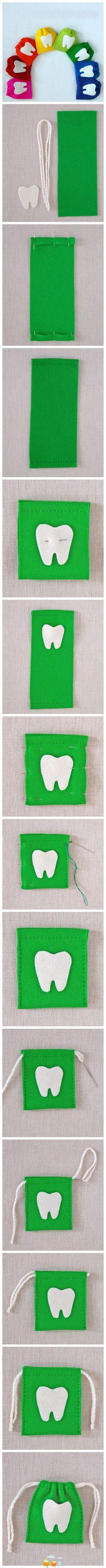 DIY for moms_kids mini tooth bag