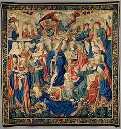 The Triumph of Fame, ca. 1502–4. Flemish, probably Brussels. The Metropolitan Museum of Art, New York. Purchase, The Annenberg Foundation Gift, 1998. (1998.205) | This tapestry depicts a theme that was popular among European royalty: the power of fame over death. #tapestrytuesday