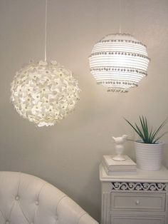 Blümchen Lampe DIY