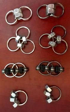 Items similar to Hex Nut Fidget Toys - Set of 3 Hex Nut Fidgets with BONUS Bike Chain Fidget!!! :) on Etsy
