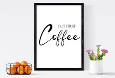 But first coffee print & coffee sign   Coffee lover? Get in style with this coffee poster design, great coffee wall art or coffee wall decor by SmallMiraclePrints on Etsy