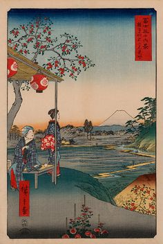 New Giclee Reproduction Vintage Japanese TeaHouse by artrep1, $19.95
