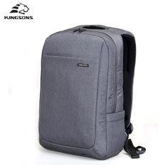 15.6 Laptop Notebook Backpack Work Durable Men's Travel Bag Business Knapsack Rucksack School Shoulder Bag For Teengers Gray