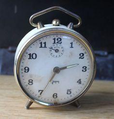 vintage japy mechanical alarm clock