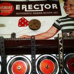 Vintage Erector Set....  toy toys retro vintage antique antiques