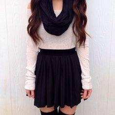 skirt . long sleeve infinity scarf