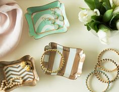 Hey! I can buy thrift store trays to paint! I pinned this from the Trends & Treasures - Gorgeous Jewelry & Giftables event at Joss and Main!