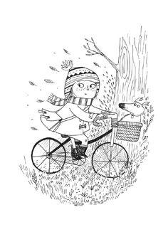 Fille au vélo Kate Hindley