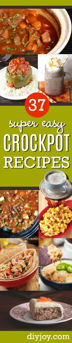 37 Incredibly Easy Crock Pot Recipes You'll Want To Make Tonight. Slow Cooker Meals and Recipe Ideas Healthy Slow Cooker, Crock Pot Slow Cooker, Crock Pot Cooking, Slow Cooker Recipes, Crockpot Recipes, Cooking Recipes, Crock Pots, Quick Recipes, Copycat Recipes