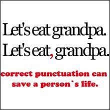 Let's eat Grandpa!  Punctuation
