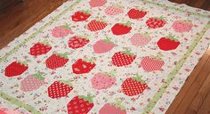 strawberries by PamKittyMorning, via Flickr pattern by The Pattern Basket-Strawberry Social