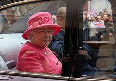 Queen Elizabeth arrives at the Bristol Old Vic Theater in Bristol, England, on Nov. 22, 2012.