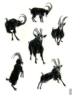 "kitmillsdraws: "" Saw The Witch the other day. Here's that goat. """