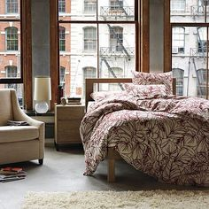 Loft, apartment, bedroom, chambre, bed, lit