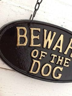 Puppy Sign  Shabby Cast Iron Vintage Inspired by CamillaCotton, $27.50