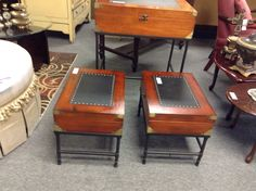 End Table / Box - We have two. Item 1563-2. Price $58.00   - http://takeitorleaveit.co/2017/06/25/end-table-box/