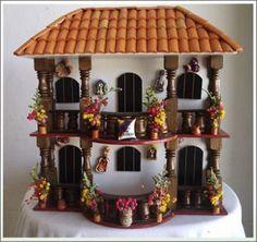 balcones antioqueños miñiatura - Buscar con Google Clay Houses, Ceramic Houses, Miniature Houses, Miniature Dolls, Diorama, Clay Wall Art, Doll House Crafts, Clay Flower Pots, Dollhouse Kits
