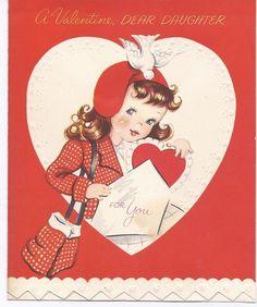 V49 Vintage 50's  Forget Me Not Valentine Greeting by jarysstuff