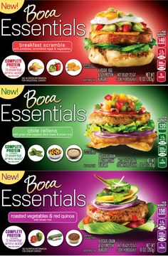"The new Boca Essentials is a line of vegetable- and grain-based patties that offers a source of ""complete protein"" to people looking for meatless meal options."