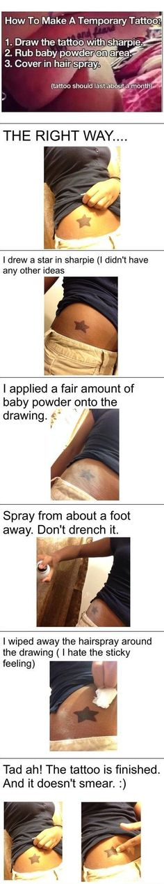 How to make a temporary tattoo - good for testing out how much you want that tattoo!