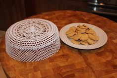 This is my version of the crocheted cake dome. The pattern is from a Finnish…