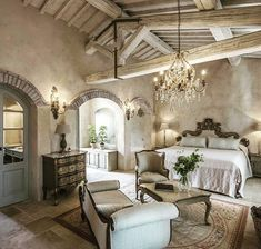 French Country Bedrooms, French Country House, French Country Decorating, French Style Decor, French Style Homes, Cream Bedroom Walls, Cozy Bedroom, Master Bedroom, Interior Design And Construction