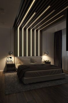 luxurious bedroom design ideas ~ Page 11 . luxurious bedroom design ideas ~ page 11 – home decor Bedroom False Ceiling Design, Luxury Bedroom Design, Bedroom Bed Design, Home Bedroom, Home Interior Design, Bedroom Decor, Bedroom Ideas, Bedroom Inspiration, Bedroom Lamps
