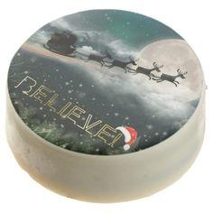 Santa's Midnight Ride Christmas Dipped Oreo Cookie - Believe