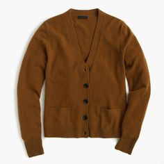 A classic V-neck cardigan, with a short (but not too short) waist that pairs…