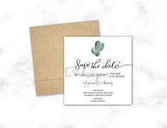 Cactus Wedding, Save The Date, Place Cards, Wedding Invitations, Place Card Holders, Wedding Invitation Cards, Wedding Invitation, Wedding Announcements, Wedding Invitation Design