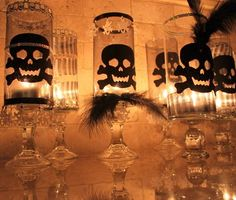These Glam Halloween Skull Candle Holders are a perfect dollar store Halloween craft! With a few additional Halloween trims you will add a glow to any party! Halloween Candles, Halloween Skull, Fall Halloween, Halloween Crafts, Holiday Crafts, Holiday Fun, Halloween Decorations, Halloween Party, Holiday Ideas