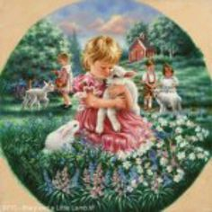 """Mary and a Little Lamb""  By Artist, Dona Gelsinger"