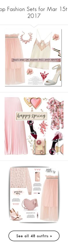 """""""Top Fashion Sets for Mar 15th, 2017"""" by polyvore ❤ liked on Polyvore featuring Mother of Pearl, Elorie, Zadig & Voltaire, Natural Life, Thalia Sodi, 1928, Clarins, Pier 1 Imports, MICHAEL Michael Kors and Too Faced Cosmetics"""