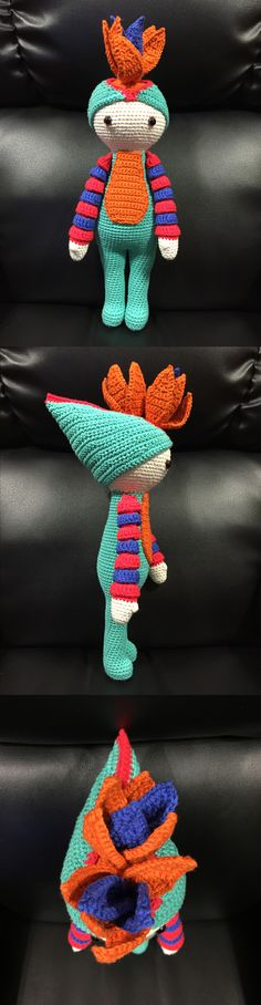 Bird of Paradise Paco (Strelitzia flower) made by Estrella R M - crochet pattern by Zabbez