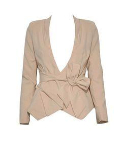 Sally cream belted blazer | shoplovemartini.com - StyleSays