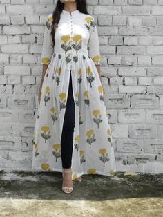 Yellow Mandarin Slit Maxi | Slit Dress