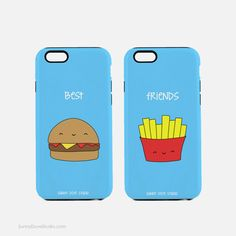 Phone Case Funny Best Friends BFF iPhone Cases Gift For Friend Her Hamburger Fries 7 6 Plus 6s 5 5s Galaxy S6 Cute Food Birthday Gifts  Best Friends...a perfect gift for your best friend, BFF, bestie, the hamburger, fries and pun loving gals in your life! From birthdays to Christmas or any day in between, this funny phone case will put a smile on both your faces! Add a dose of fun to your day every time you look at your phone!  • slim fitting clip-on case with shock resistant insert •…