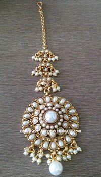 Maang tikka - pearls - bindiya